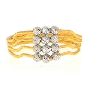 22ct Indian/Asian Two Colour Gold Ring