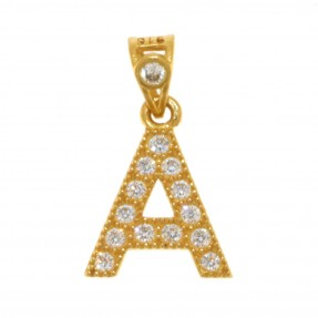 22ct Indian/Asian Gold 'A' Pendant