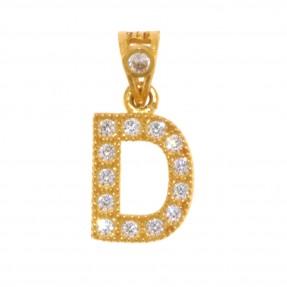 22ct Indian/Asian Gold 'D' Pendant