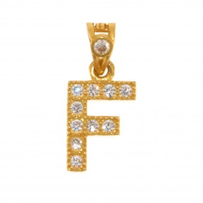 22ct Indian/Asian Gold 'F' Pendant