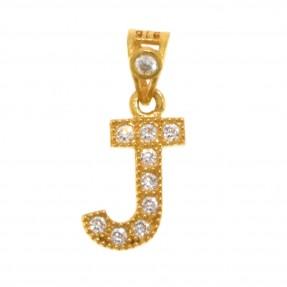 22ct Indian/Asian Gold 'J' Pendant