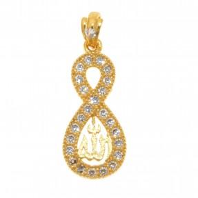 22ct Indian/Asian Gold Allah Pendant