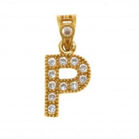 22ct Indian/Asian Gold 'P' Pendant