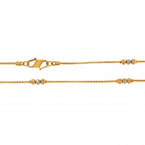 22ct Indian/Asian Gold Two Colour Mala/Chain