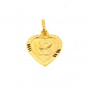 22ct Indian Gold B Pendant