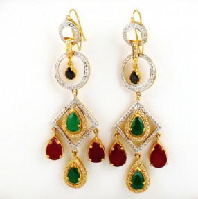925 Sterling Silver Gold Plated Earrings