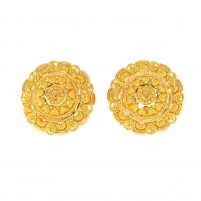 22ct Indian/Asian Gold Filigree Stud Earrings