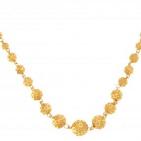 22ct Real Gold Asian/Indian/Pakistani Style Balls Beads Necklace/Mala