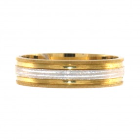 English Two Colour Wedding Band (Pre-Owned)