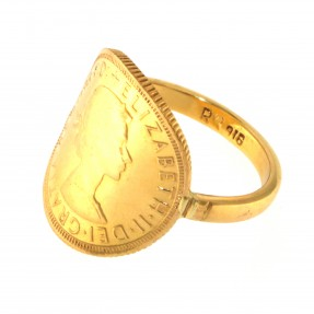 22ct Indian/Asian Gold Full Sovereign Ring
