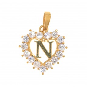 22ct Indian/Asian Gold Heart 'N' Pendant