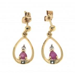 English Ruby Stud Earrings (Pre-owned)