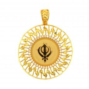 22ct Indian/Asian Gold Khanda Pendant