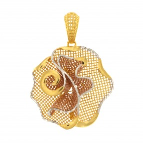 22ct Indian/Asian Gold Three Colour Pendant