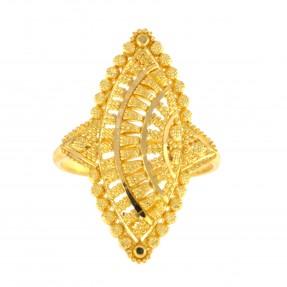 22ct Indian/Asian Gold Filigree Ring