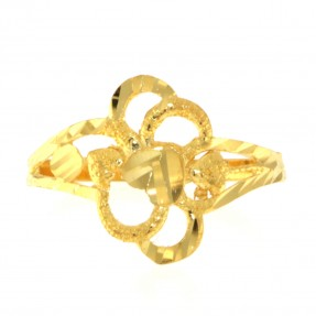 22ct Real Gold Asian/Indian/Pakistani Style Heart Ring