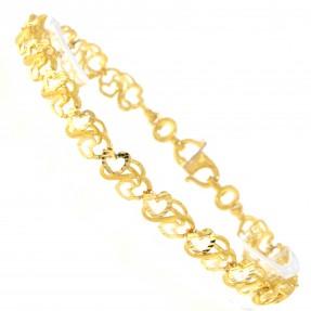 22ct Real Gold Asian/Indian/Pakistani Style Heart Bracelet