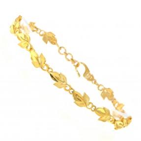 22ct Indian/Asian Gold Leaf Bracelet