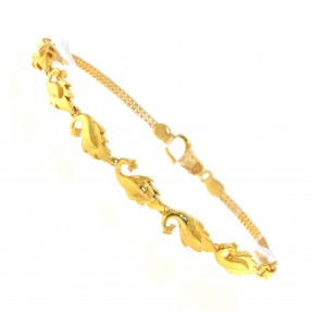 22ct Real Gold Asian/Indian/Pakistani Style Peacock Bracelet