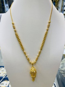 22ct Indian/Asian Gold Filigree Necklace/Mala