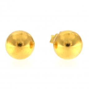 22ct Real Gold Asian/Indian/Pakistani Style Ball Stud Earrings