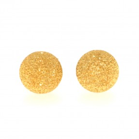 22ct Indian/Asian Gold Sparkly Ball Stud Earrings