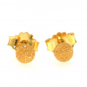 22ct Real Gold Asian/Indian/Pakistani Style Sparkly Ball Stud Earrings
