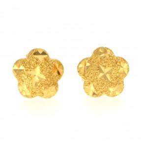 22ct Indian/Asian Gold Flower Stud Earrings