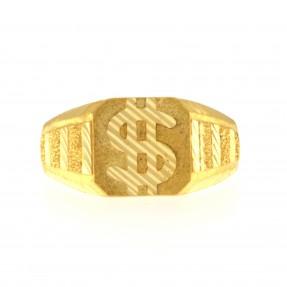22ct Indian/Asian Dollar Sign Gold Ring