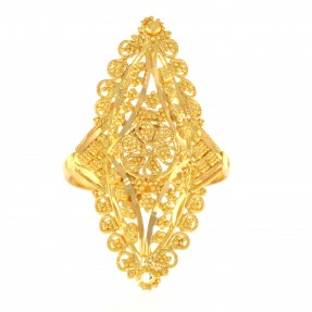 22ct Real Gold Asian/Indian/Pakistani Style Filigree Ring