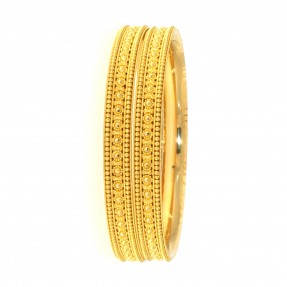 22ct Real Gold Asian/Indian/Pakistani Style Filigree Karas/Bangles (Pair)