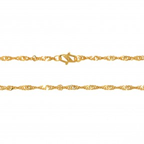 22ct Indian/Asian Gold Ripple Chain