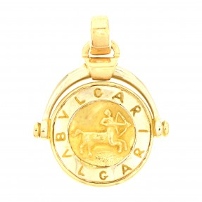 English Zodiac Sagittarius Designer Pendant (Pre-Owned)
