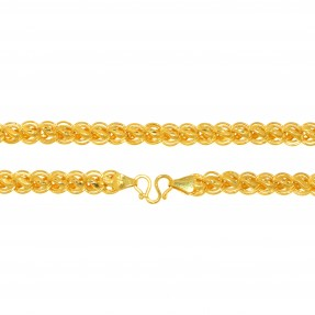 22ct Real Gold Asian/Indian/Pakistani Style Hollow Chain