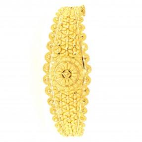 22ct Real Gold Asian/Indian/Pakistani Style Filigree Gold Bangle/Kara Openable (Single)