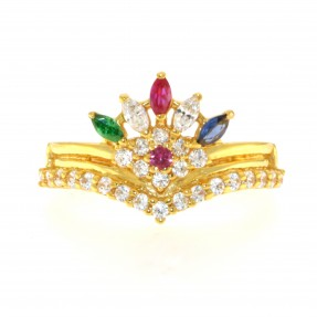 22ct Real Gold Asian/Indian/Pakistani Style Crown Ring