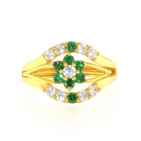 22ct Real Gold Asian/Indian/Pakistani Style 2 in 1 Ring