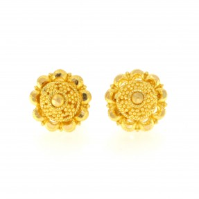 22ct Real Gold Asian/Indian/Pakistani Style Stud Earrings