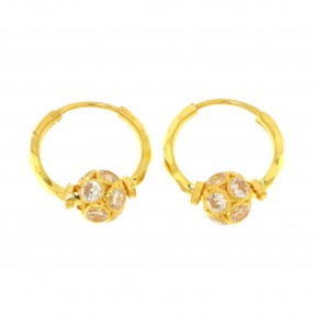 22ct Real Gold Asian/Indian/Pakistani Style Hoop Earrings