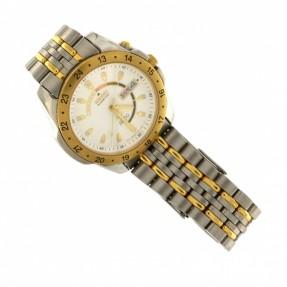 SEIKO Kinetic SQ50 Men's Wristwatch 5M43-0A20 Sapphlex Crystal 5Bar
